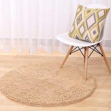 Custom Make Fluffy Chenille Non Slip Round Floor Rugs Yoga Mat Bedroom Parlor Living Room