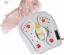Hot!! Top Far Infrared Heat Foot Blood Circulation Pain Relief Massager Vibrating 220V(China)