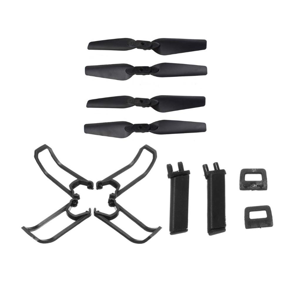LeadingStar E58 RC Quadcopter Spare Parts Propeller Blades Landing Gear Propeller Guard Protection Cover Set(China)