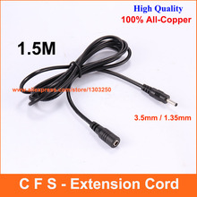 1.5M 3.5mm x 1.35mm DC Power Extension Cable DC Jack Female to Male Plug Cable Adapter Extension Cord Connector 1.5 Meter(China)
