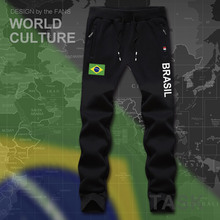 Brazil Brasil BRA Brazilian BR mens pants joggers jumpsuit sweatpants track sweat fitness fleece tactical casual nation country(China)