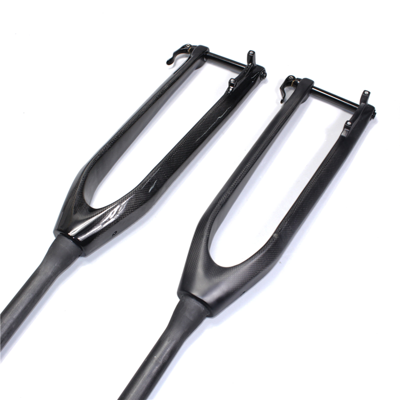 NO LOGO MTB Carbon Fork 2627.529 Rigid Mountain Bikes Fork Tapered Passing Axle 15mm Bicycle Accessories 1-18 3K (4)