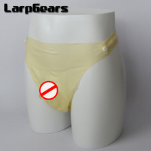 Buy Hot selling ! Wholesale moulded transparent latex shorts condom, rubber panties cock sheath
