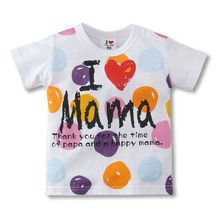 TTN I love papa i love mama children t shirt baby fashion t-shirt short sleeve kids short shirt infant tees child t-shirts