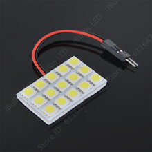 100PCS Wholesale Dome Door Lamp 15 LED 5050 SMD Car Auto Interior Lamp Bulb T10 Festoon Dome 3 Adapter DC12V(China)