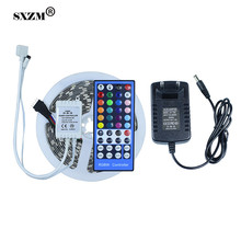 SXZM 5050 RGBW RGBWW LED tape light  DC12V not waterproof+12V2A EU power adapter +IR remote controller led strip light holiday