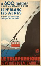 Skiing in The Alps Cable Car Vintage Retro Kraft Travel Poster Decorative DIY Wall Sticker Home Bar Posters Decoration Kids Gift