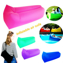 Air Sofa Chair Hangout Bag Inflatable Airbed Lazy Men Women inflatable lounge chair With Pillow Portable Air Sofa for Camping
