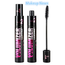 1 pcs double adjustable quantity mascara Long thick coils become warped waterproof and shading Cosmetics brand