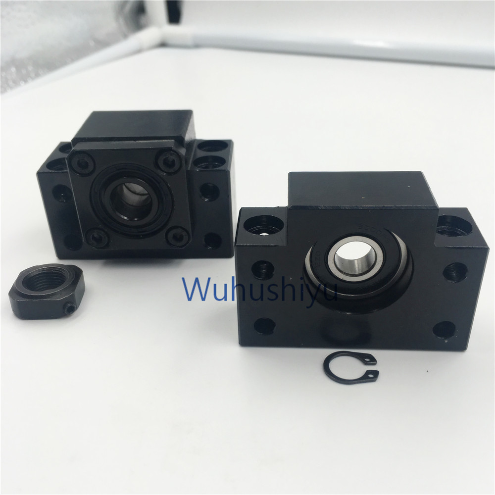 BK12 BF12 Set : 1 pc of BK12 and 1 pc BF12  for  end support for SFU1605 ball screw support CNC XYZ