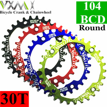 VXM Oval Round Bicycle Crank & Chainwheel 104BCD Wide Narrow Chain Ring 32T/34T/36T/38T Crankset MTB Bike Bicycle Parts(China)