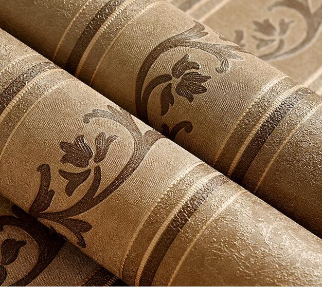 Simple New waterproof, washable PVC wallpaper, living room, bedroom, hotel, TV background stripes wallpaper<br>