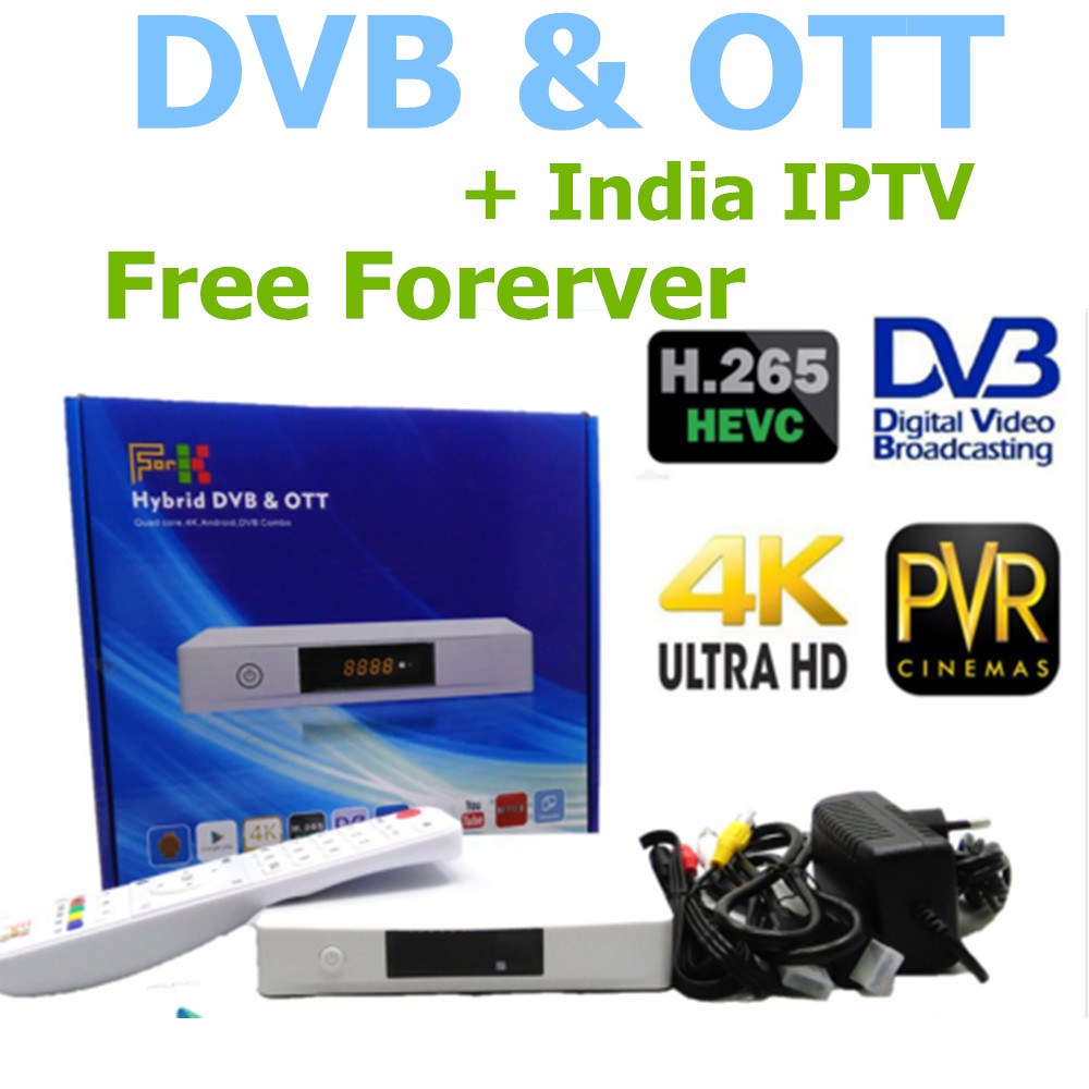 Android TV BOX Live Streaming Box IPTV Network Player Android DVB s2 / DVB t2 + Free Forever India IPTV ,290+ Free Live TV(China (Mainland))