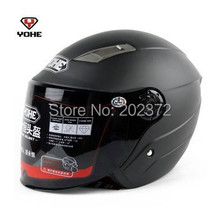 matte black Motorbike half face YOHE 837 Helmets ,cool summer motorcycle electric bicycle headpiece safety helmet