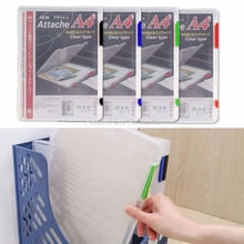 A4 Transparent Storage Box Clear Document Paper Filling Case File Plastic New