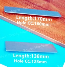 Hole C:C: 128mm/160mm Aluminum alloy handle Straight bevel modern handle Kitchen door handles drawer pull