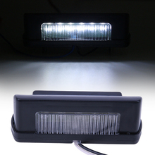 12V-24V Car-styling LED Number Licence Plate Rear Tail Light for Truck Trailer Automobiles Light-emitting Diode Lamp Waterproof(China)