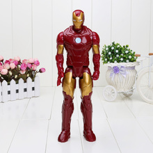 30CM The avengers super hero Iron Man Movie Spiderman PVC Action Figures Toy(China)