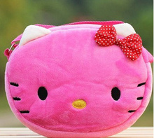 Kawaii 22*16CM 2Colors Choice - Hello Kitty Plush Backpack , Baby Kid's Kindergarten Plush Satchel Messenger BAG Plush Backpack