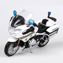 1:18 Maisto Police Motorcycle Toy Simulation Portugal Police Motorbike Die Cast & ABS Mini Model Collectible Kids Toys Juguetes