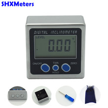 Digital Protractor Inclinometer Level Metal Box Level Measuring Tool Electronic Angle Meter Angle Finder With Retail box