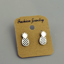 Fashion jewelry gold silver color pineapple stud  for women men lovers' gift 1lot=2pairs E3281
