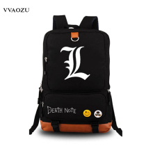 Anime Death Note Cosplay Luminous Printing Backpack Satchel Canvas School Bags Laptop Backpack Knapsack Packsack for Teenagers(China)