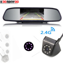 Koorinwoo Wireless CCD Parking Video System 8 IR Lights Night Vision Car Rear View Camera 4.3 inch Car mirror Monitor TFT Video(China)