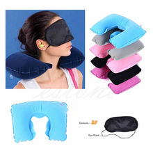 Inflatable Travel Pillow Air Cushion Neck Rest U-Shaped Compact Plane Flight(China)