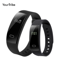 YourTribe QS80 Bluetooth Smart Band Bracelet Wristband Heart Rate Sedentary Reminder Sleep Monitoring for IOS Android Smartphone