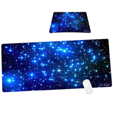 1 large +1 small mouse pad suit galaxy non-slip mouse mat for computer desk stationery accessories(China)