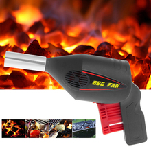 Outdoor Manually BBQ Fan Air Blower For Barbecue Tools Pressing Fire Bellows Portable Gun for Camping Picnic