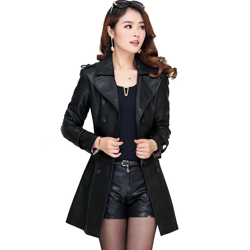 Online Get Cheap Women's Long Leather Coat -Aliexpress.com ...