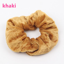 Buy ON SALE 5PCS Women Velvet Hair Scrunchies Elastic Hair Rubber Bands Ties Ponytail Holder Girls Hair Accessories gum hair for $2.43 in AliExpress store