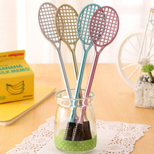 1PC Creative badminton racket neutral pen creative cartoon stationery kawaii school Office supplies Papelaria Canetas