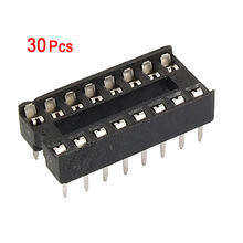 Brand New Hot 30Pcs Practical Plastic 16 Pin 2.54mm DIP IC Socket Solder Type Adaptors