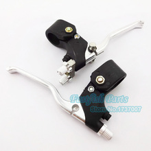 Chrome Right Dual Twin Brake & Left Brake Lever For Water Cool Pocket Bike 47cc 49cc Mini Quad ATV(China)