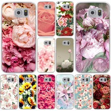 Peony Sunflowe Rose Daisy Plants Flower Hard for Samsung Galaxy S3 S4 S5 & Mini S6 S7 S8 & Edge Plus Grand Prime 2 phone Case