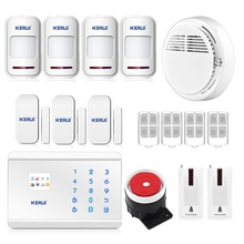 KERUI 8218G GSM Alarm System for Home Sensor PSTN Alarm with 99 Wireless Guard Zone 2 Wired Guard Zone