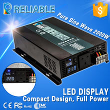 4000W Peak LED Display Off Grid Pure Sine Wave Power Solar Inverter 2000W 12V 120V DC AC Converter For Refrigerators/Television