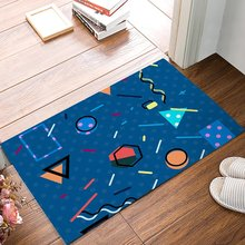 Buy Modern Dark Blue Geometric Triangle Circle Wavy Line Hexagon Door Mats Kitchen Floor Bath Entrance Rug Mat for $26.88 in AliExpress store