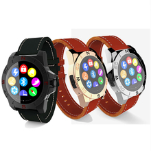 Bluetooth N10A Smart Watch Luxury Leather Waterproof with Pedometer Hands Free Remote Camera Compass for iPhone Samsung P20(China)
