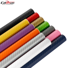 50*200CM Car Styling Waterproof Car Sticker 3D 3M Carbon Fiber Vinyl Film 9 Colors Option With Retail Packing Auto DIY Decals