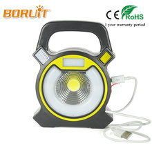 BORUIT LED ultrathin led flood lights 15W Waterproof IP65 rechargeable portable Spotlight Floodlight lamp camping light Bule Red(China)