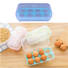Single Layer Refrigerator Food 8 Eggs Airtight Storage Container Plastic Egg Container Eggs Carrier Holder Box Sorting Box