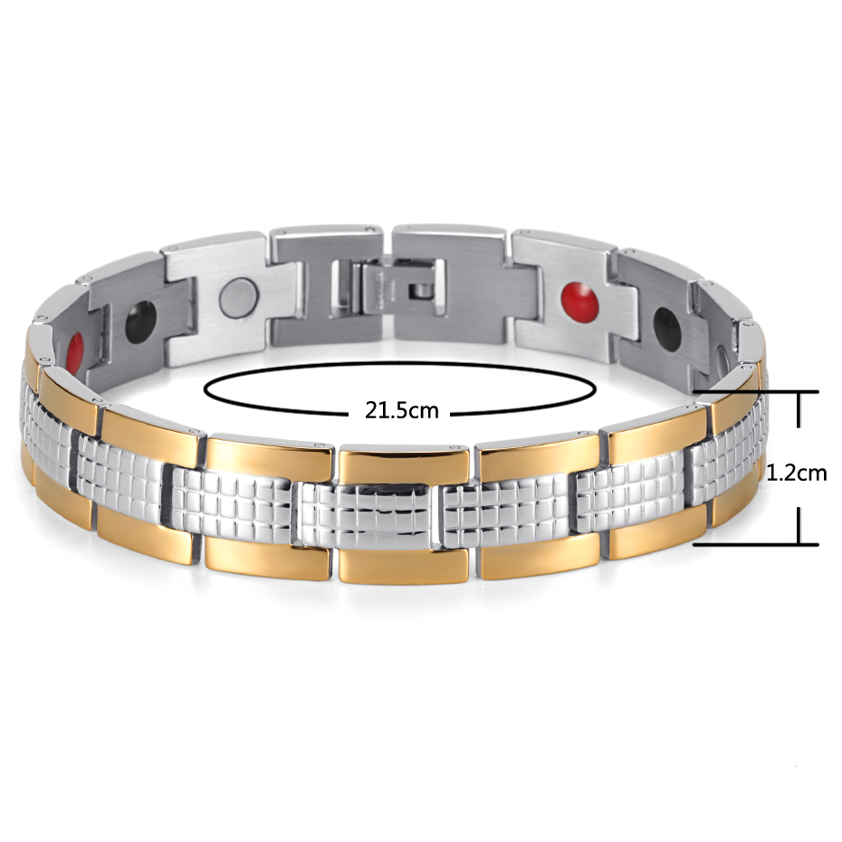 Energy Therapy Stainless Steel Bracelet  (5)