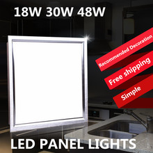free shippingAC85-260V300*300 300*600 12w 18w 30W Office dedicated led Panel light  led ceiling light led lamp warm /cold white