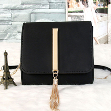 Recommend good quality casual fashion metal chain tassel mini flap across body messenger bag shoulder bag women's handbag