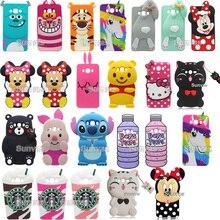 3D Cases New Soft Silicone Minnie Tiger Stitch Kitty Bear Ra bit Cat Cartoon Phone Case Back Cover Samsung Galaxy J5 J7 2016