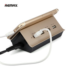 REMAX USB Smart Charger Adapter AC Power EU/US Switch Travel Socket Outlet For iPhone Samung Xiaomi MP3/4 GPS Camera Speaker etc(China)
